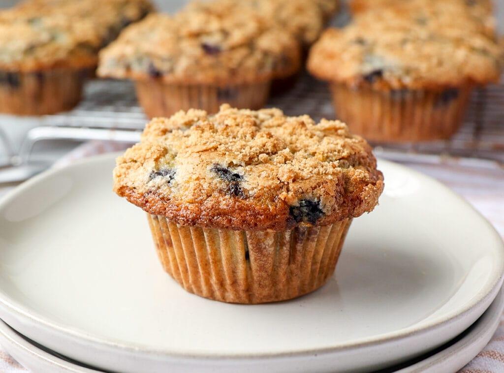 Moist Buttermilk Blueberry Muffins