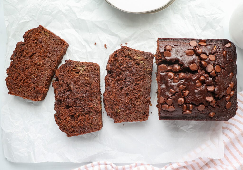 How to make healthy death by chocolate zucchini bread from scratch