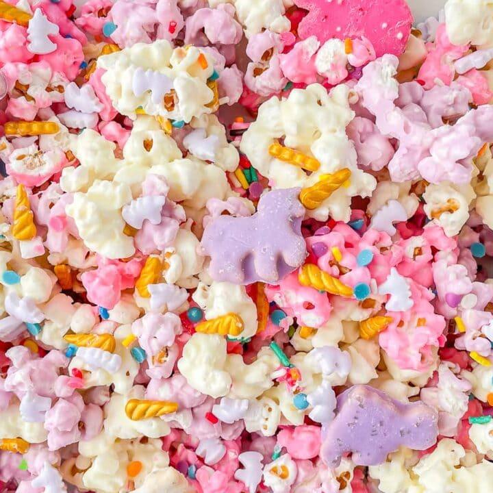 Magical unicorn popcorn mix