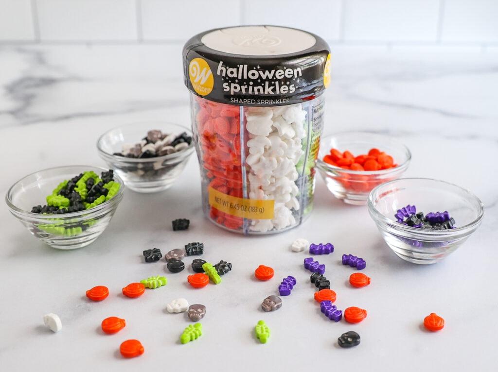 Halloween themed sprinkles