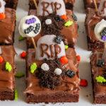 Easy Graveyard Brownies for Halloween
