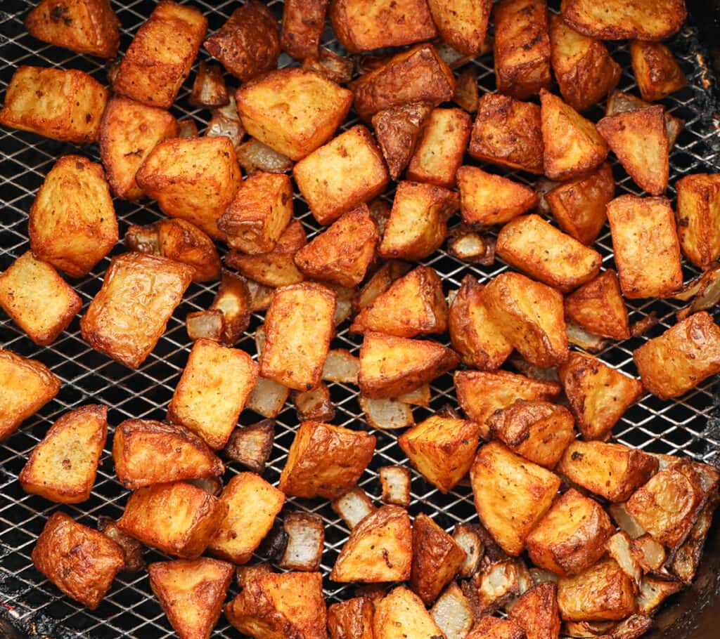 Well browned and crispy potatoes