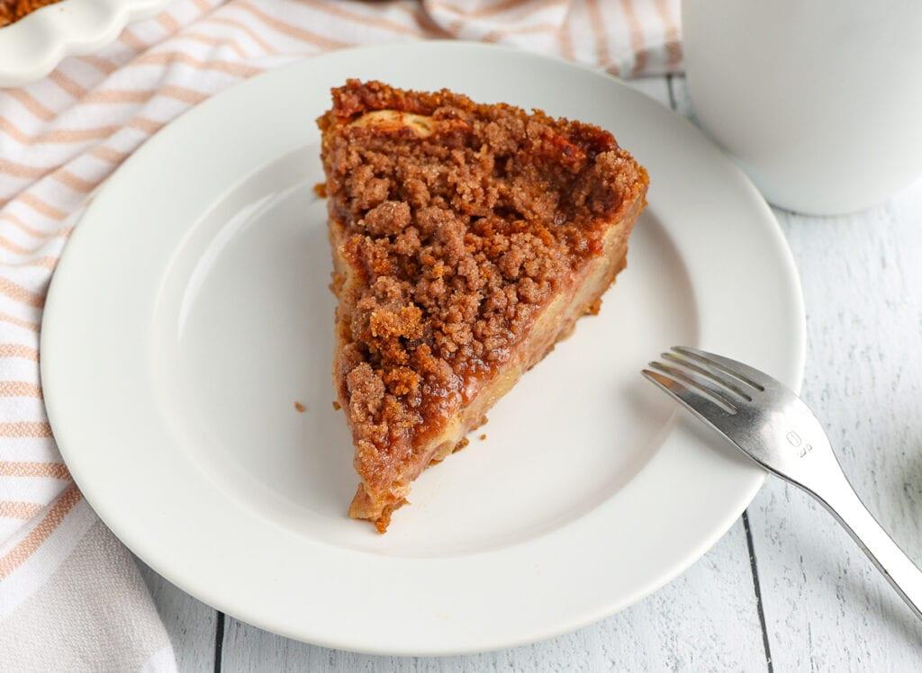Slice of perfect apple pie